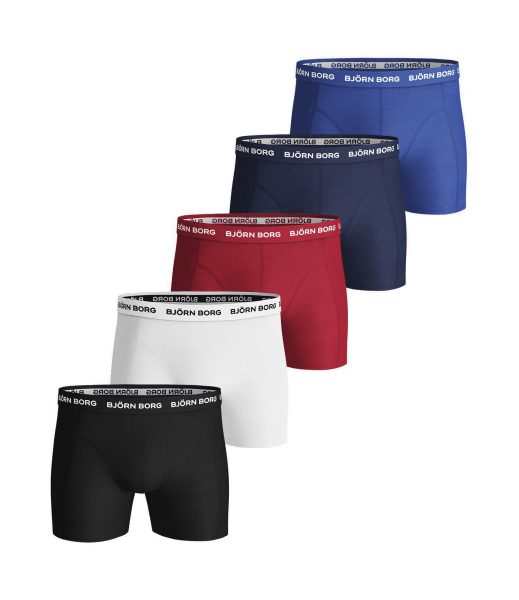 SOLID ESSENTIAL SHORTS 5-PACK